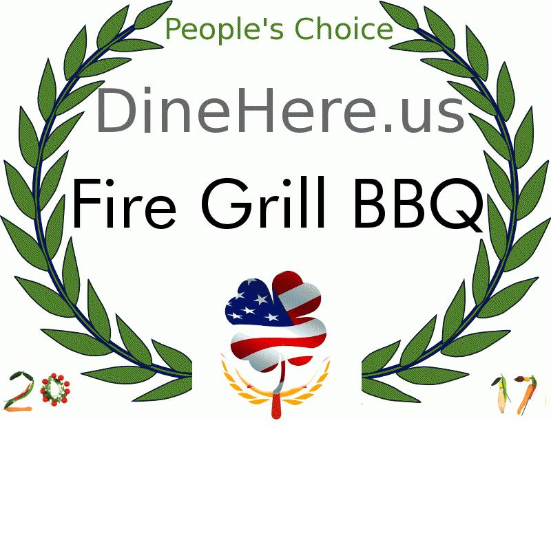 Fire Grill BBQ DineHere.us 2017 Award Winner